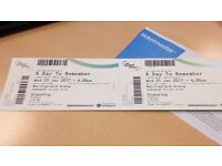 2 standing tickets for A Day To Remember. Paid £60 from ticket master.