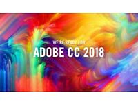 ADOBE CC 2018 Photoshop , Illustrator , Premiere Pro , Lightroom for Windows / Macbook / Imac