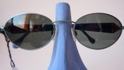 Marken Sonnenbrille für Damen MONDI grün blau Kunststoffgläser ovale Form Gr. M