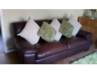3 seater leather sofa and 1 chair