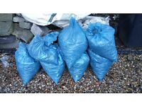 Hard caore rubble bagged ready to go free to colector