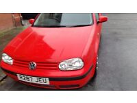 Vw golf mk4 long mot very economical cheap on fuel and tax central lock cd player heating