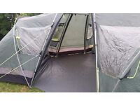 Bargain Large 3 bedroom tent with living space. Comes with gas cooker wind breaker and water carrier