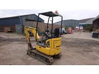 2014 Komatsu PC14R-3 1.5 Ton Mini Excavator / Digger £13,250 + VAT