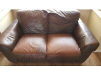 2 seater leather sofa x 2