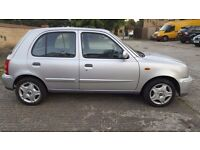 Nissan micra 2003,only 46000 miles,998 cc petrol, MOT,HPI clear,one lady owner,5 doors,service his