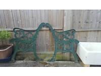 Cast Iron garden seat / bench ends