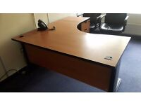 Executive office managers desks with desk high pedistals