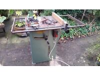 Startrite tilt arbour circular saw