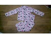 Ladies Closer With Evie Pink Heart Motive Pyjama Set - Size 10/12