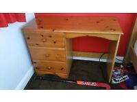 Pine desk with chair