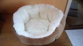 New unused Small cosy dog/cat bed