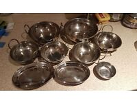 Set of Balti/Indian serving dishes