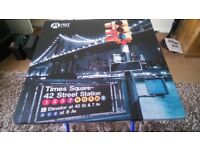 """FOLDING TABLE AND CHAIR """"TIMES SQUARE"""" ALMOST 24"""" SQUARE"""