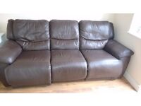 comfy brown leather suite