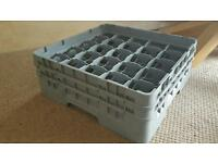 Commercial glass dishwasher tray