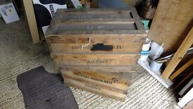 Pair of Vintage packing crates, great for retail display!