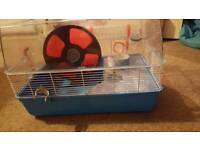 Hamster cage and wheel