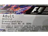 2X F1 Three Day Tickets July 2017