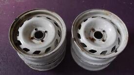 Peugeot 104 steel wheels
