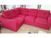 Harveys RHF Red Corner Sofa