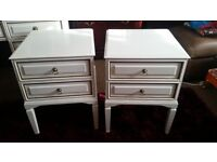 TWO BEDSIDE TABLES. EX CONDITION