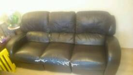 Free 3 seat reclining Leather sofa