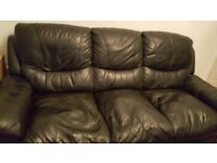 Leather Sofa 3 seater FREE