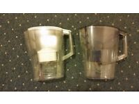 Two Brita jugs cheap white and blue Brita jug