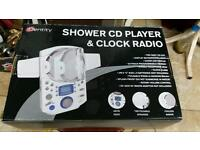 Shower cd player and radio new with box