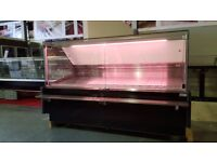 SERVE OVER COUNTER DISPLAY FRIDGE FOR MEAT DIARY FISH SQUARE BLACK MEAT LIGHT TOP QUALITY 2m