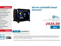 Warrior Ldg4600s diesel generator