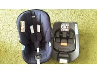 Mamas and Papas Infant Carrier and Cybex Base