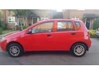Daewoo Kalos 2003 1.2 Petrol Red. Low mileage and great runner.