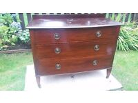 mahogany Chest of drawers. Tlc done on top to look fresh,