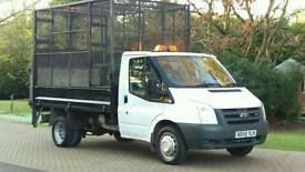 FORD TRANSIT CAGED TIPPER WITH TAIL LIFT ONLY 61K ONE OWNER FSH MOT IVECO DAILY MERCEDES SPRINTER