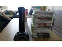 Xbox 360 with 20 games and all wires