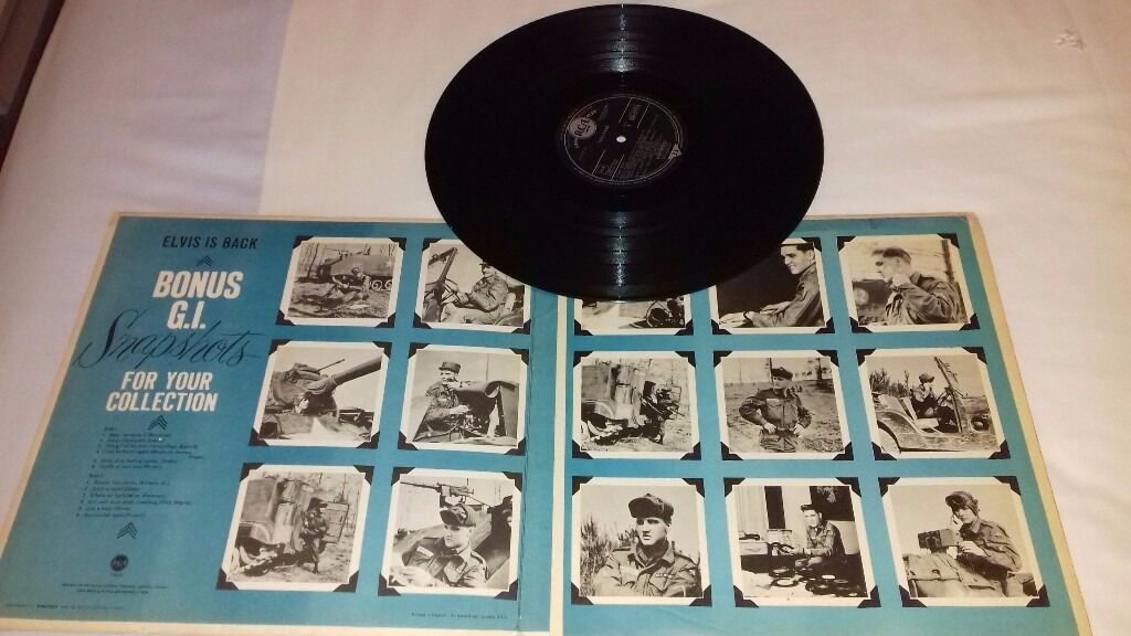 Image result for elvis is back gatefold