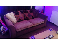 3 seater sofa and cuddle chair (not swivel)