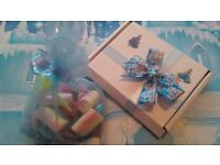 jojo style bow and letterbox sweets gift ,birthday ,party