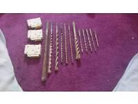 Hilti & makita sds drill bits, chisel + 3 fuses