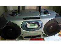 Phillips portable cd tape radio dolby surround