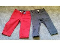 Trousers x2 pairs, aged 2-4 months.