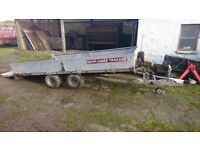 Brian james 12x6 tipping flatbed car trailer