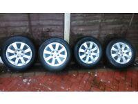 "Zagira 15"" Alloys x 4 (5 stud) need little refurb, all legal tyres,"