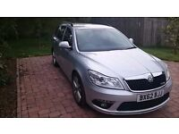 2012 62 reg Skoda Octavia 2.0 TDI CR vRS Estate, DSG 6 speed, 170 bhp Diesel