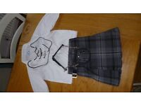 Baby/toddler kilt outfit (dark grey) inc sporran - excellent condition