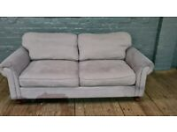 GREY TWO SEAT SOFA NICE VERY COMFY ALL ZIP COVERS CAN DELIVER