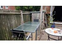 Garden glass extendable table