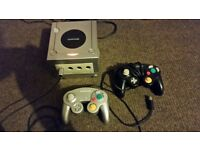 Nintendo GameCube Console with two original controllers